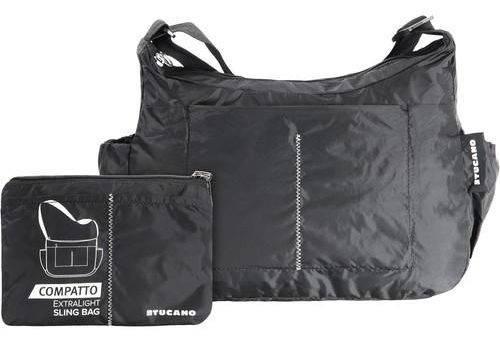 Сумка раскладная через плечо на 15 л. Tucano COMPATTO XL SLING BAG PACKABLE BLACK (BPCOSL) черный
