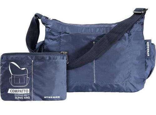Сумка-трансформер через плечо на 15 л. Tucano COMPATTO XL SLING BAG PACKABLE BLUE (BPCOSL-B) синий