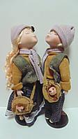 Пара фарфоровых кукол Влюбленные высота 42 см