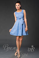 Летний короткий сарафан - платье. (6 расцветок) 3580 горох.