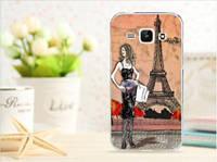 Эксклюзивные чехлы для Samsung Galaxy J1 J100 рисунок - Дама в Париже