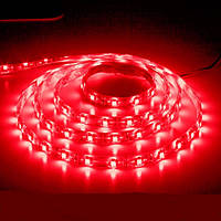 Светодиодная лента LS604/ SANAN LED-RL 60SMD(3528)/m 4.8W/m 12V 5m*8*0.22mm  красный IP65, Feron