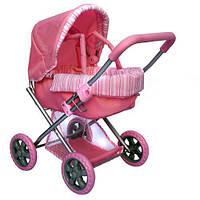 Коляска для кукол как настоящая Melogo (Metr+) 9369, возраст 3+, розовая, съемная люлька