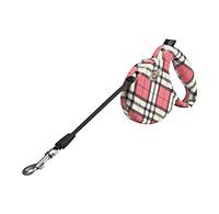 Поводок-рулетка для собак Lolo Pets (Лоло Петс) LO-57236 розовая клетка, лента 3м*20кг