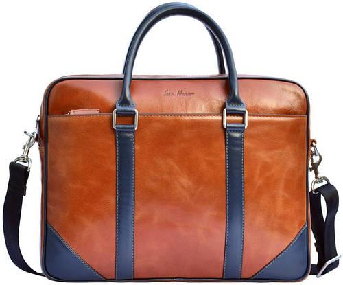 Прекрасная кожаная мужская сумка GO-AHEAD MAN ISSA HARA B14 (04-03) коричневый