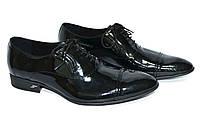 Кожаные лаковые туфли на шнурке