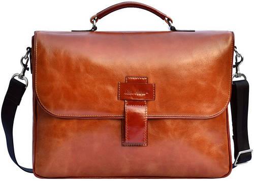 Качественная кожаная мужская сумка GO-AHEAD MAN ISSA HARA B 20 (04-00) коричневый