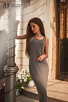 Платье-майка женское.Материал: трикотаж-вискоза Размеры: универсальный Цвета: серый, красный, черный.AA 028
