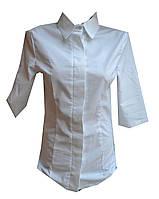 Рубашка женская 3/4 рукав, потайные поговицы