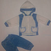 Велюровый костюм для новорожденных.р,62-68