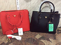 Женская сумка Prada прада красная черная брендовая