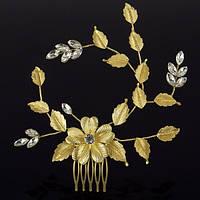 Гребешок для волос Золотой цветок