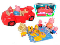 Машинка свинки Пеппы ТМ 8808 А: 4 фигурки, аксессуары, 613 г, коробка 40х16х15 см