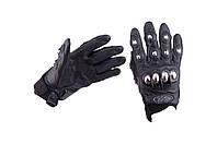 Мотоперчатки AXE RACING (кожзам, метал)