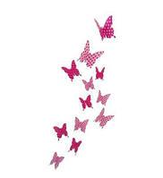 Наклейки-стикеры 3D. Бабочки, декор на стены, пластиковые, для детской, спальни, гостиной.