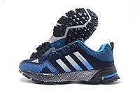 Кроссовки женские Adidas Marathon синие с голубым (адидас марафон)