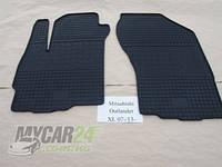 Резиновые ковры в салон перед. Peugeot 4007 07- (CLASIC) кт-2 шт.