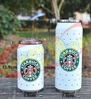 Банка с трубочкой Starbucks звезды