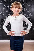 Блуза детская трикотажная белая