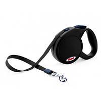 Поводок-рулетка для собак Flexi Mini Compact XS Dog (Флекси) черная, лента 3м*12кг