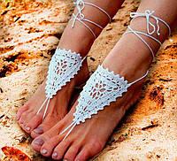 Вязаный пляжный аксессуар для ног