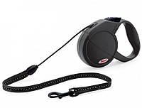 Поводок-рулетка для собак Flexi Classic Long S (Флекси) черная, трос 8м*12кг
