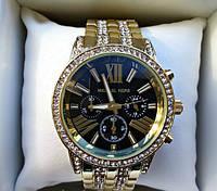 Часы женские Michael Kors кварцевые черные с золотистым корпусом