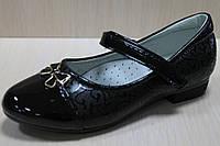 Лакированные черные школьные туфли на для девочки р. 27,28,32