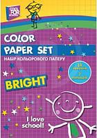 """Набор цветной бумаги """"CFS"""", А4, 14 л 7 цв, 70г/м2"""