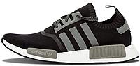 Мужские кроссовки Adidas NMD Runner Primeknit (адидас нмд) черные