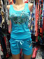 Красивый удобный летний костюм с шортами в расцветках