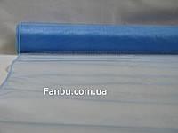 Органза флористическая на метраж,цвет сине-голубой (ширина 72см)