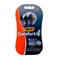 BIC 4 Comfort Одноразовые мужские станки 3 шт