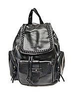 Рюкзак женский коса IN-8462 (черный)