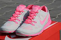 Женские кроссовки летние Nike Free Run 5.0 розовые