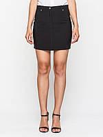 Юбка карандаш 60128, юбка прямая, юбка до колена, черная юбка, для офиса, для школы, дропшиппинг украина