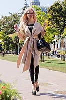 Кашемировое пальто с капюшоном