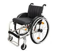 Инвалидная активная жесткорамная коляска с титановой рамой