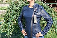 Весенняя молодежная  куртка, кож.зам. Синяя