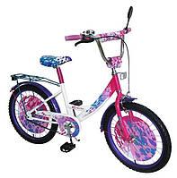 """Велосипед детский от 7 лет 151811, шины 18"""", со страховочными колёсами, зеркало, звонок"""