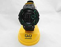 Часы унисекс Q@Q - 10Bar Alarm chrono, можно плавать, противоударные, m068j003y