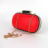 Красная маленькая сумка-клатч(бокс) женская выпускная