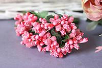 """Добавка """"сложные тычинки"""" 144 шт/уп оптом розово-персикогового цвета"""