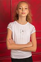 """Детская блуза """"Ангелина"""" с коротким рукавом для девочки"""