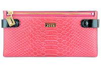 Женский кошелек JCCS 1051 розовый из натуральной кожи внутри черный
