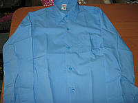 Детская голубая школьная рубашка для мальчика   10-13 лет Турция
