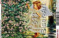 """Схема картини """"Ангелочок в квітах""""№513"""