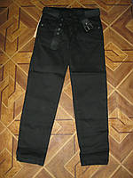 Черные школьные классически джинсы + ремень для мальчиков 6,9 лет Турция
