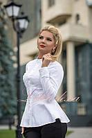 Белая Рубашка с баской