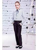 """Школьные брюки для девочки черные """"Style"""" Zironka"""